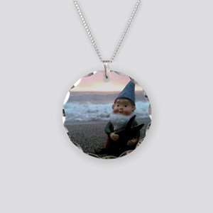 Sunset Gnome Necklace Circle Charm