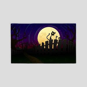 Halloween Fence 3'x5' Area Rug