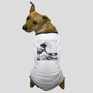 The Great Wave off Kanagawa (??????) Dog T-Shirt