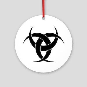 Tri-moon Ornament (Round)