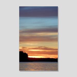 Finland Lake Summer Sunset 35x21 Wall Decal