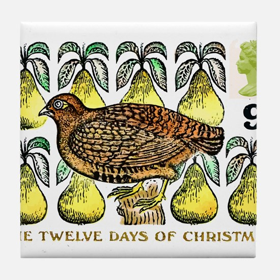 1977 Great Britain 12 Days of Christmas Stamp Tile