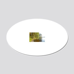 Summer Lake in Finalnd 20x12 Oval Wall Decal