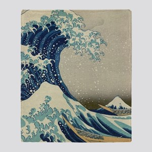 The Great Wave off Kanagawa (??????) Throw Blanket