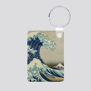 The Great Wave off Kanagaw Aluminum Photo Keychain