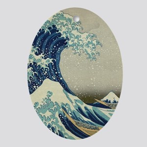 The Great Wave off Kanagawa (??????) Oval Ornament