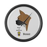Boxer Large Wall Clock