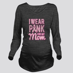 I Wear Pink for My Mom Breast Cancer Long Sleeve M