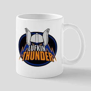 Lukfin Thunder Black Logo Mugs
