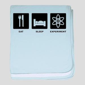 Eat Sleep Experiment baby blanket