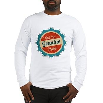 Retro Genuine Quality Since 2011 Long Sleeve T-Shi