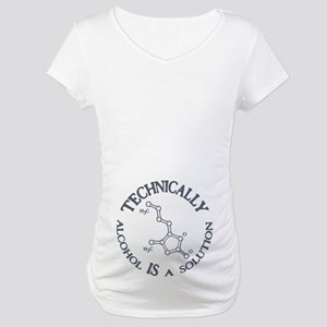 Alcohol, A Solution Maternity T-Shirt