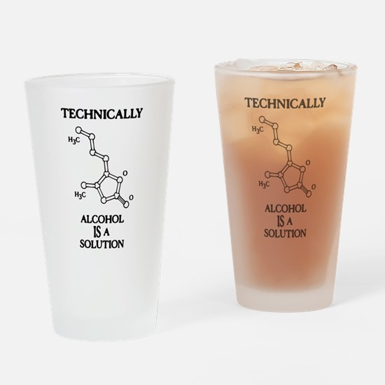Alcohol, A Solution Drinking Glass