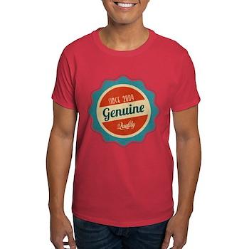 Retro Genuine Quality Since 2009 Dark T-Shirt