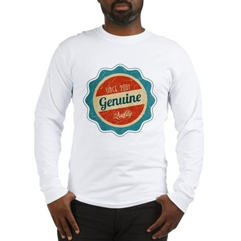 Retro Genuine Quality Since 2001 Long Sleeve T-Shi