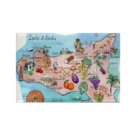 Sicilian Italy Magnets