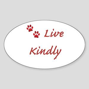 Live Kindly Sticker