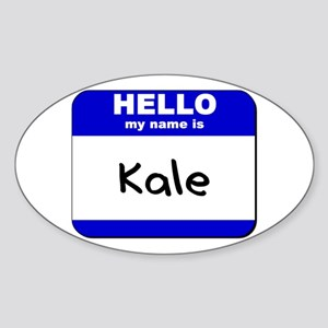 hello my name is kale Oval Sticker