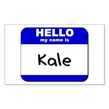 hello my name is kale Rectangle Sticker