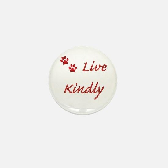 Live Kindly Mini Button