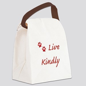 Live Kindly Canvas Lunch Bag