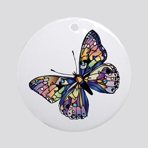 Exotic Butterfly (round) Round Ornament
