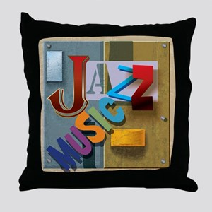 Jazz Music Throw Pillow