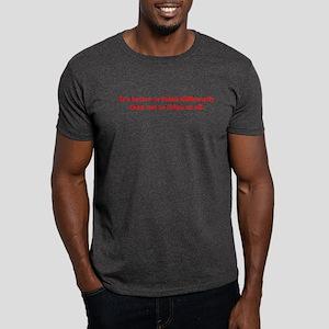 It's Better to Think Differen Dark T-Shirt
