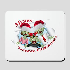 Merry Zombie Family Christmas Mousepad