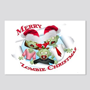 Merry Zombie Family Christmas Postcards (Package o