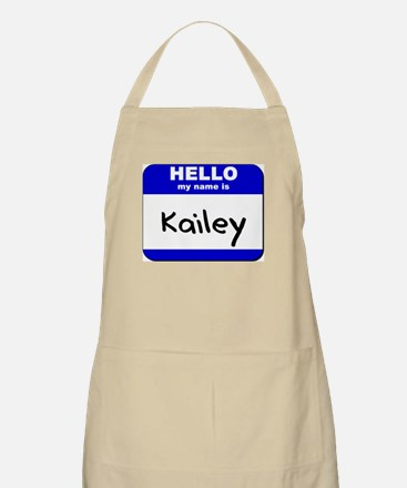 hello my name is kailey  BBQ Apron