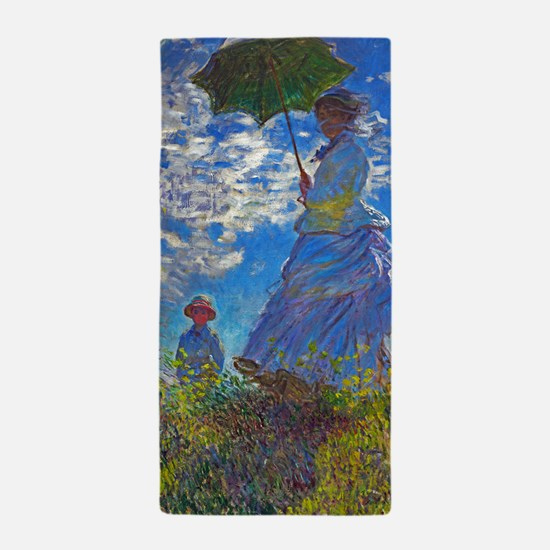 Monet - Woman with a Parasol Beach Towel
