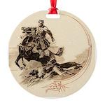 Vintage Horseman Borzoi Ornament