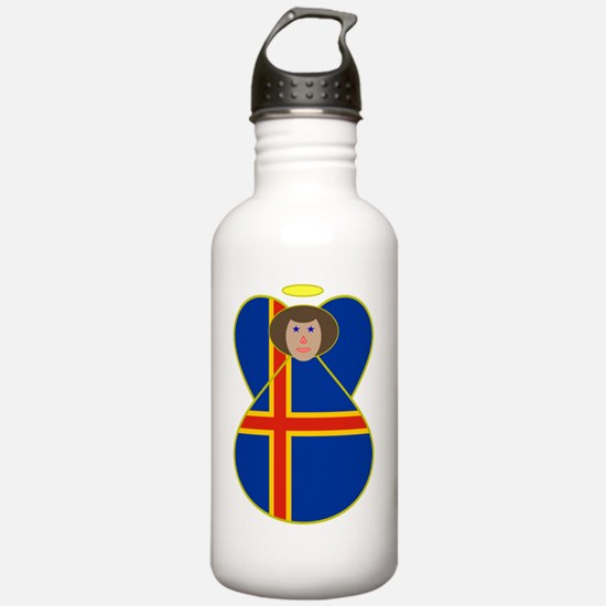 Aaland Islands Flag An Water Bottle