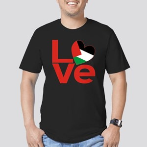 Red Palestinian LOVE Men's Fitted T-Shirt (dark)