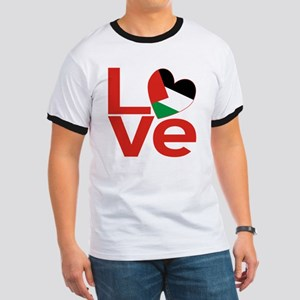 Red Palestinian LOVE Ringer T