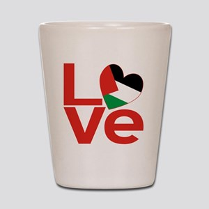 Red Palestinian LOVE Shot Glass