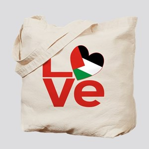 Red Palestinian LOVE Tote Bag