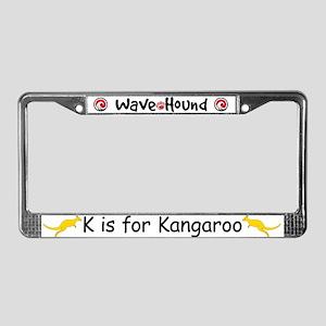 K is for Kangaroo License Plate Frame