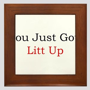Litt Up Framed Tile