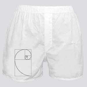 Golden Spiral Fibonacci Black Boxer Shorts