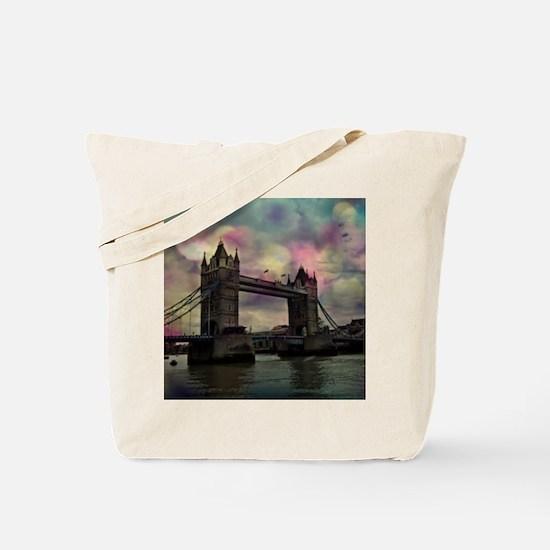 london tower bridge, dramatic light Tote Bag