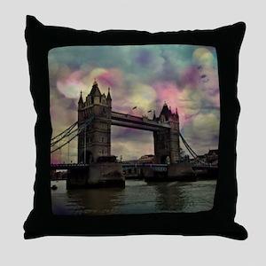 london tower bridge, dramatic light Throw Pillow