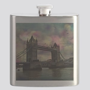 london tower bridge, dramatic light Flask