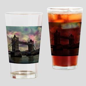 london tower bridge, dramatic light Drinking Glass