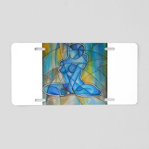 blue nude Aluminum License Plate