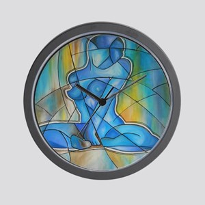 blue nude Wall Clock