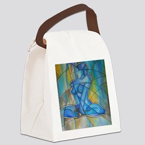 blue nude Canvas Lunch Bag