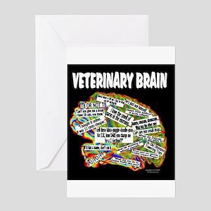 vet brain Greeting Cards