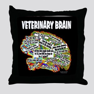 vet brain Throw Pillow